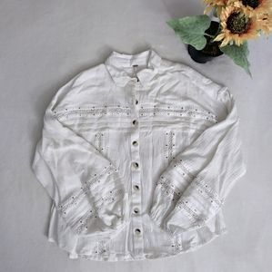 Free People Summer Stars Button-Down Top